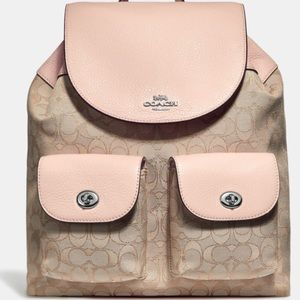 Coach Billie Backpack In Signature Jacquard NWT